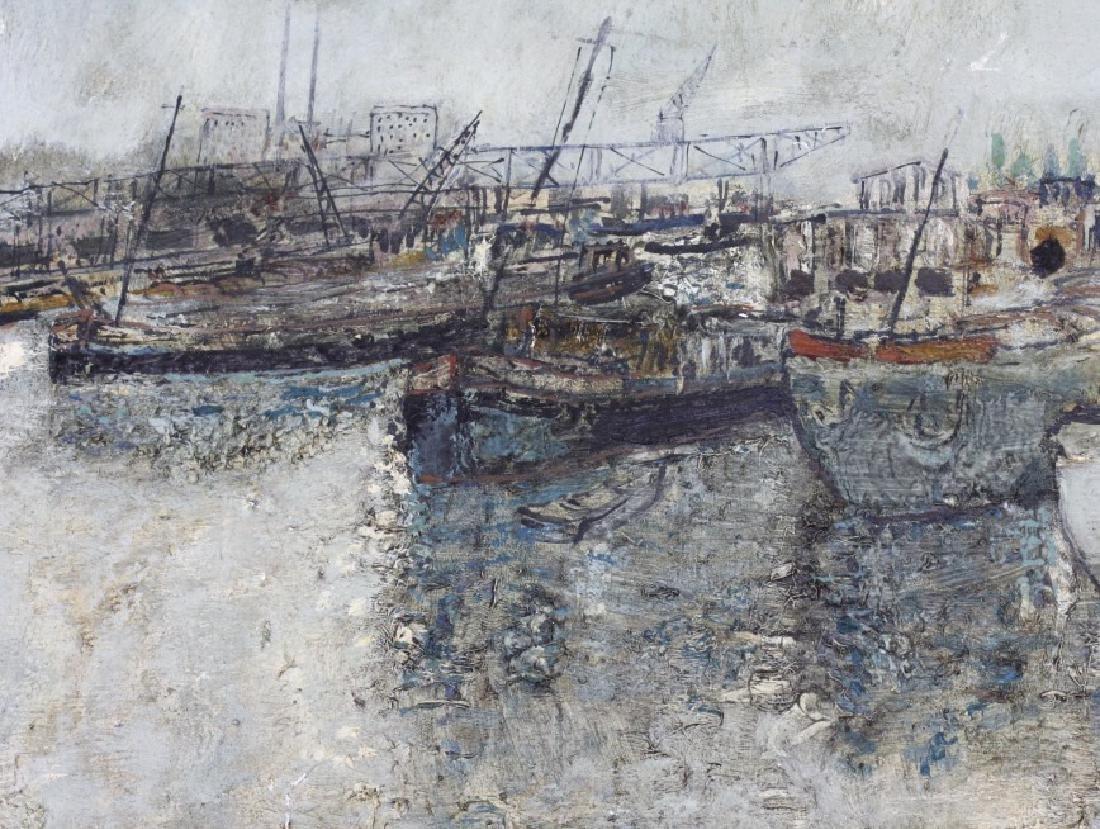 Bernard Gantner Marina Boats Seascape Oil Painting - 5