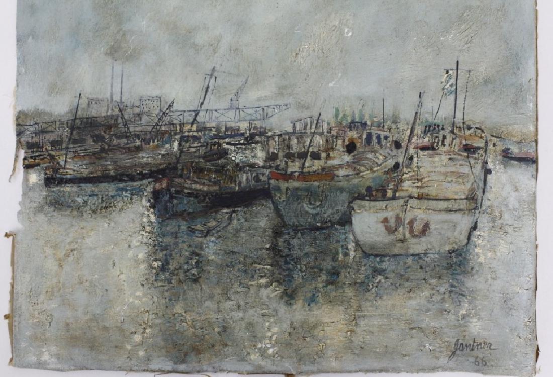 Bernard Gantner Marina Boats Seascape Oil Painting - 6