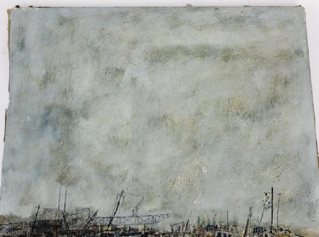 Bernard Gantner Marina Boats Seascape Oil Painting - 7