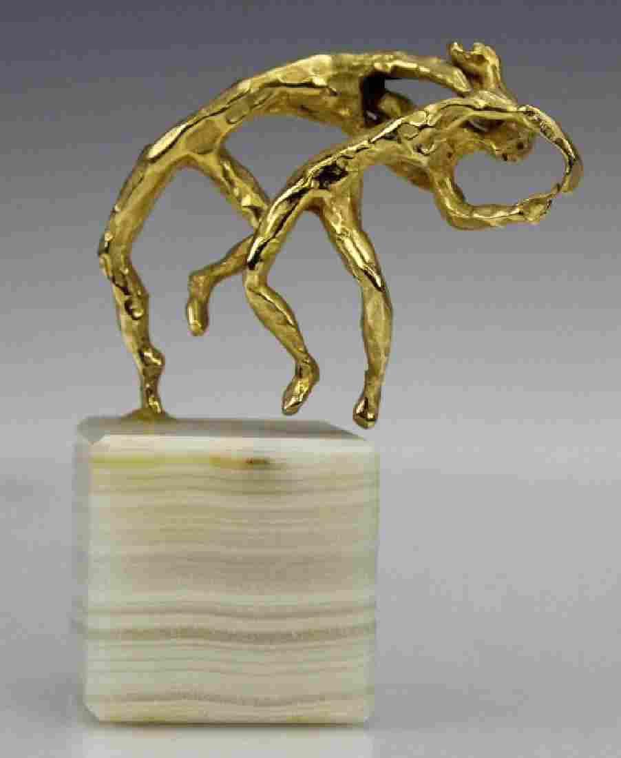 Esther Wertheimer Modernist Gold Dancers Sculpture