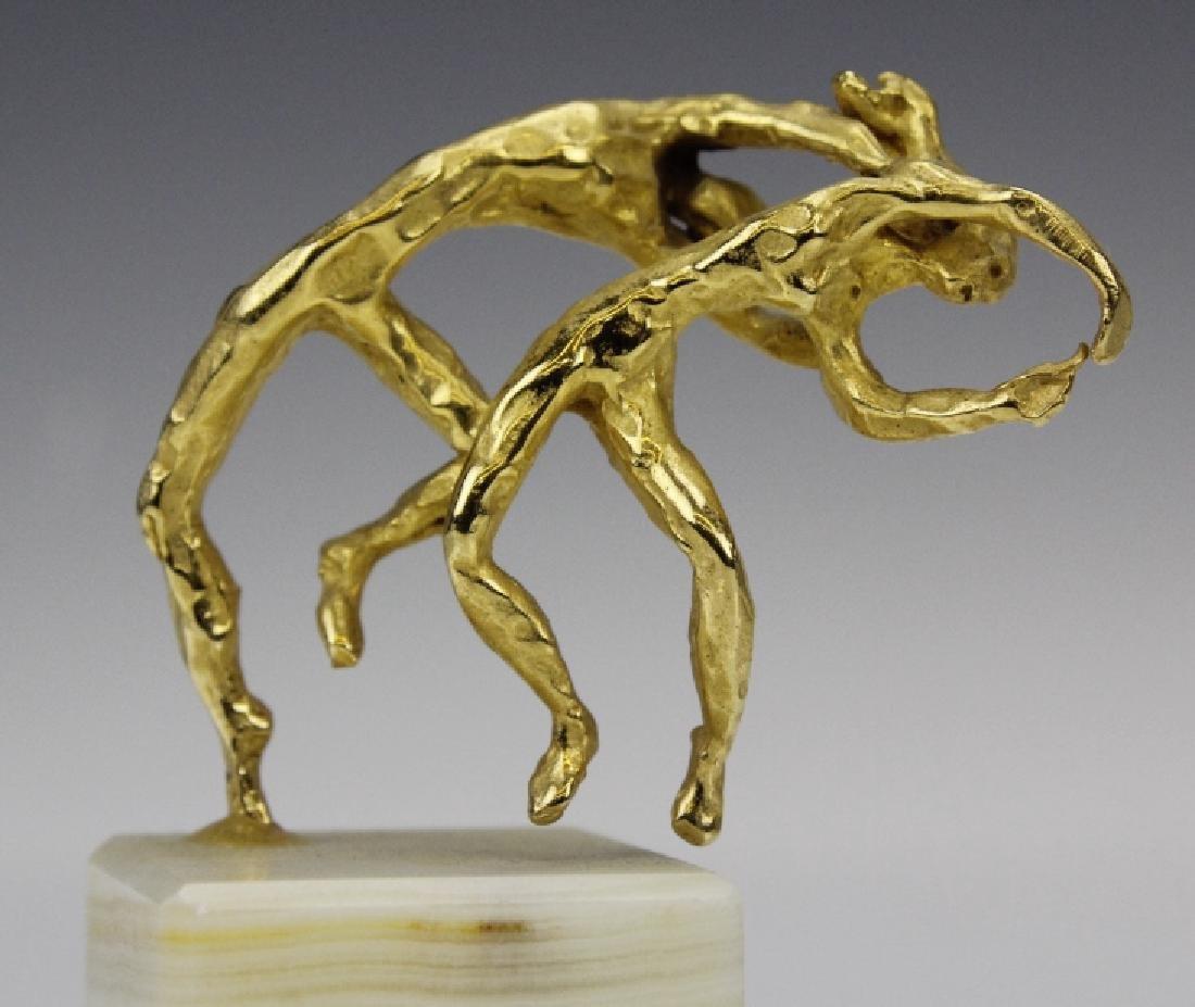 Esther Wertheimer Modernist Gold Dancers Sculpture - 2