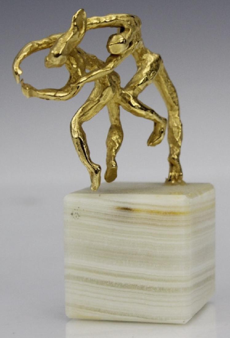 Esther Wertheimer Modernist Gold Dancers Sculpture - 3