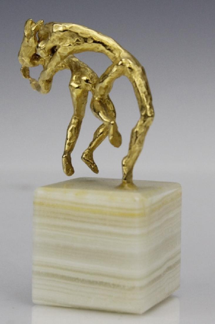 Esther Wertheimer Modernist Gold Dancers Sculpture - 4