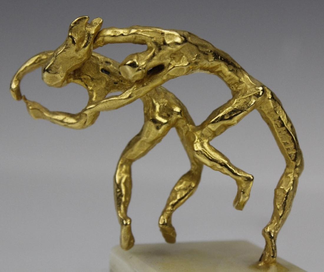 Esther Wertheimer Modernist Gold Dancers Sculpture - 8