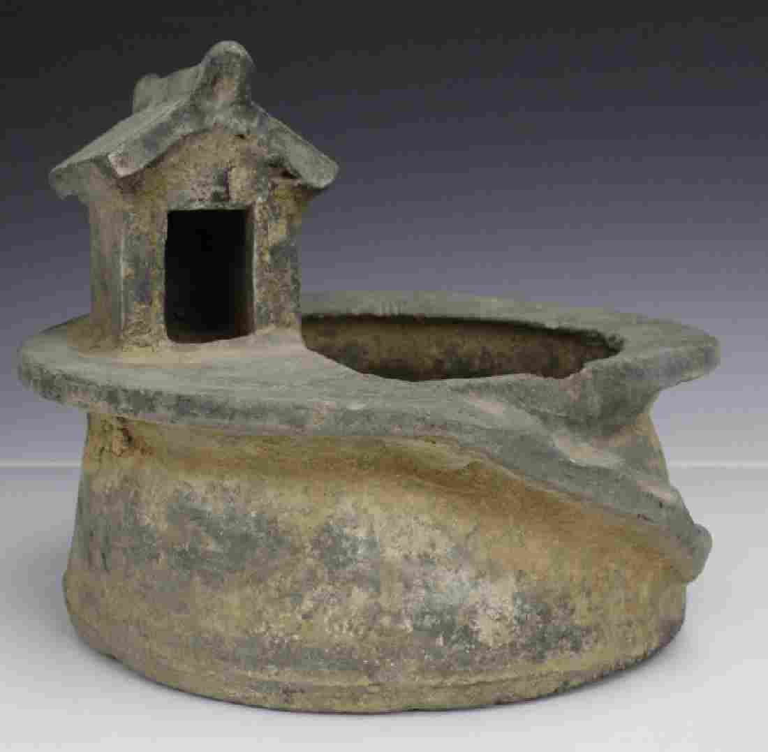 Han Dynasty Grey Pottery Model of Well House