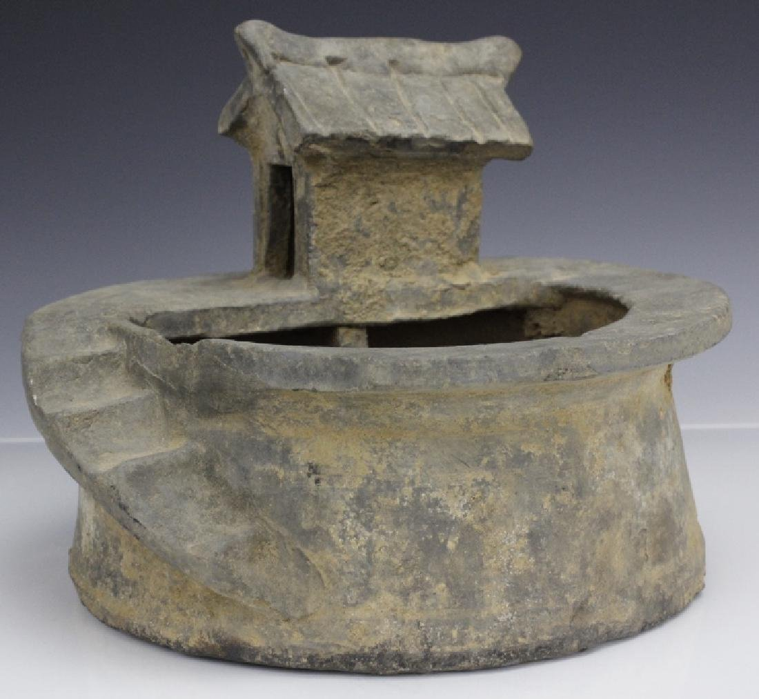 Han Dynasty Grey Pottery Model of Well House - 2