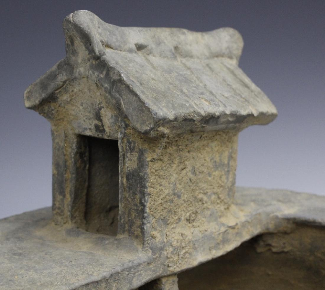 Han Dynasty Grey Pottery Model of Well House - 4