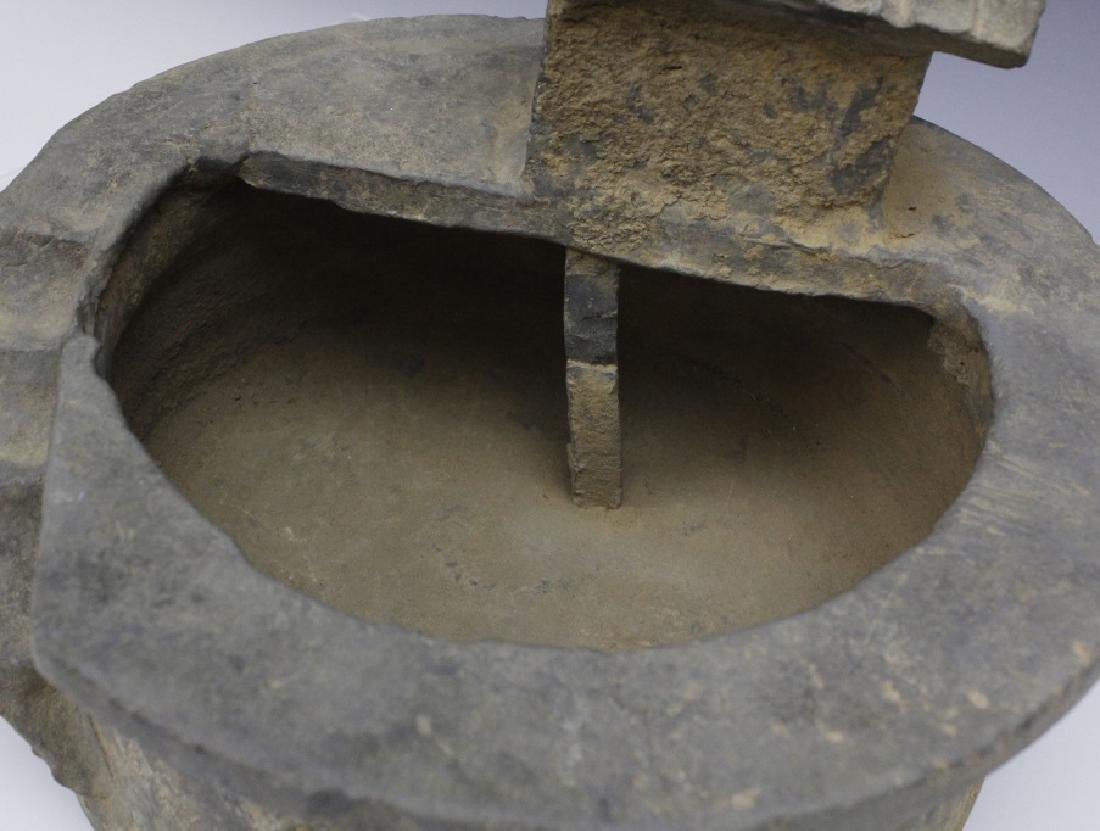 Han Dynasty Grey Pottery Model of Well House - 5