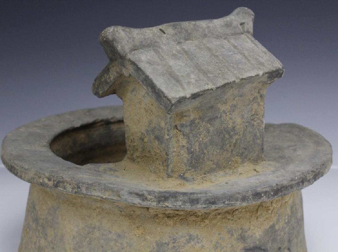 Han Dynasty Grey Pottery Model of Well House - 7