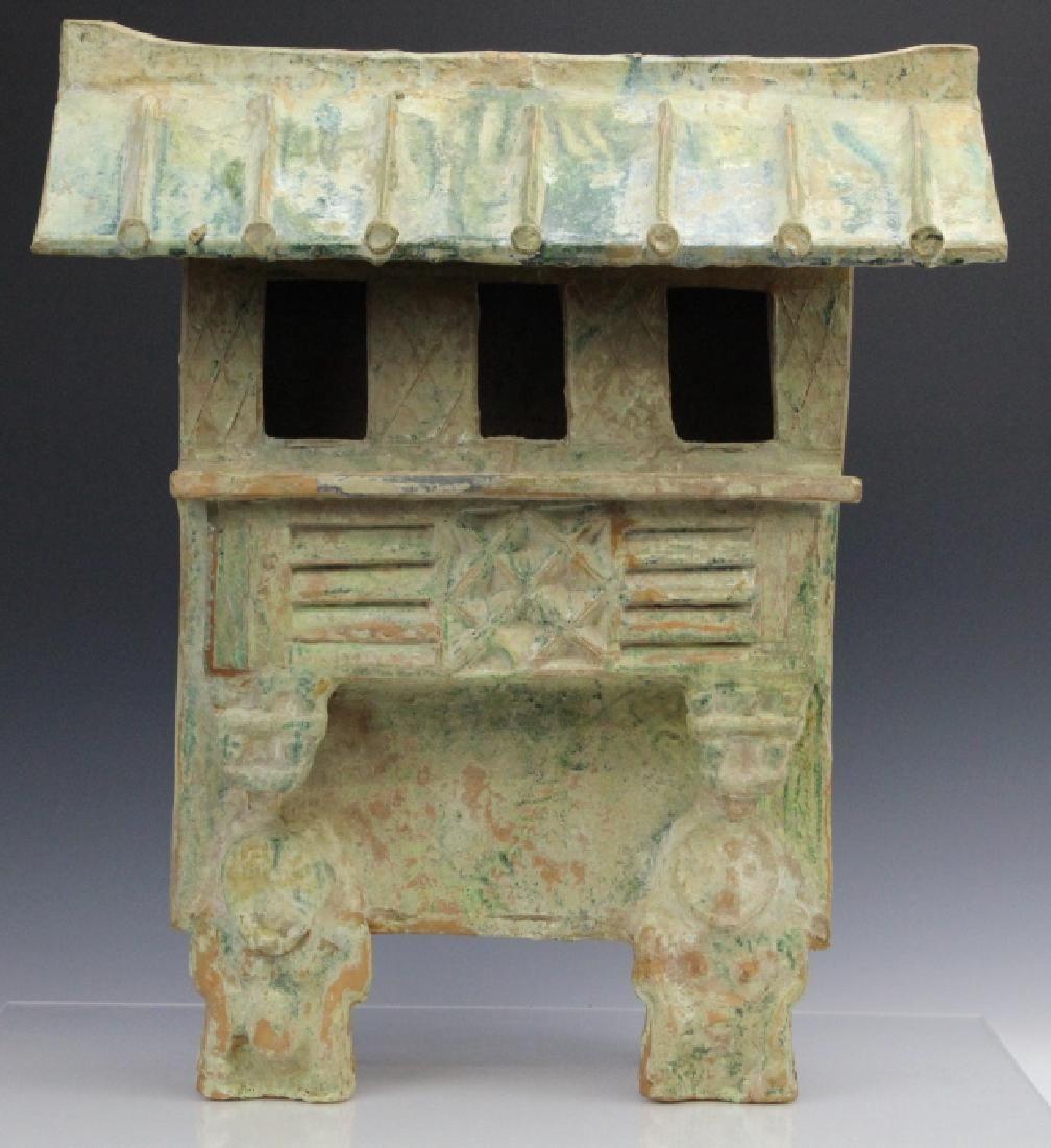 Large Han Dynasty Terra Cotta Pottery House Figure