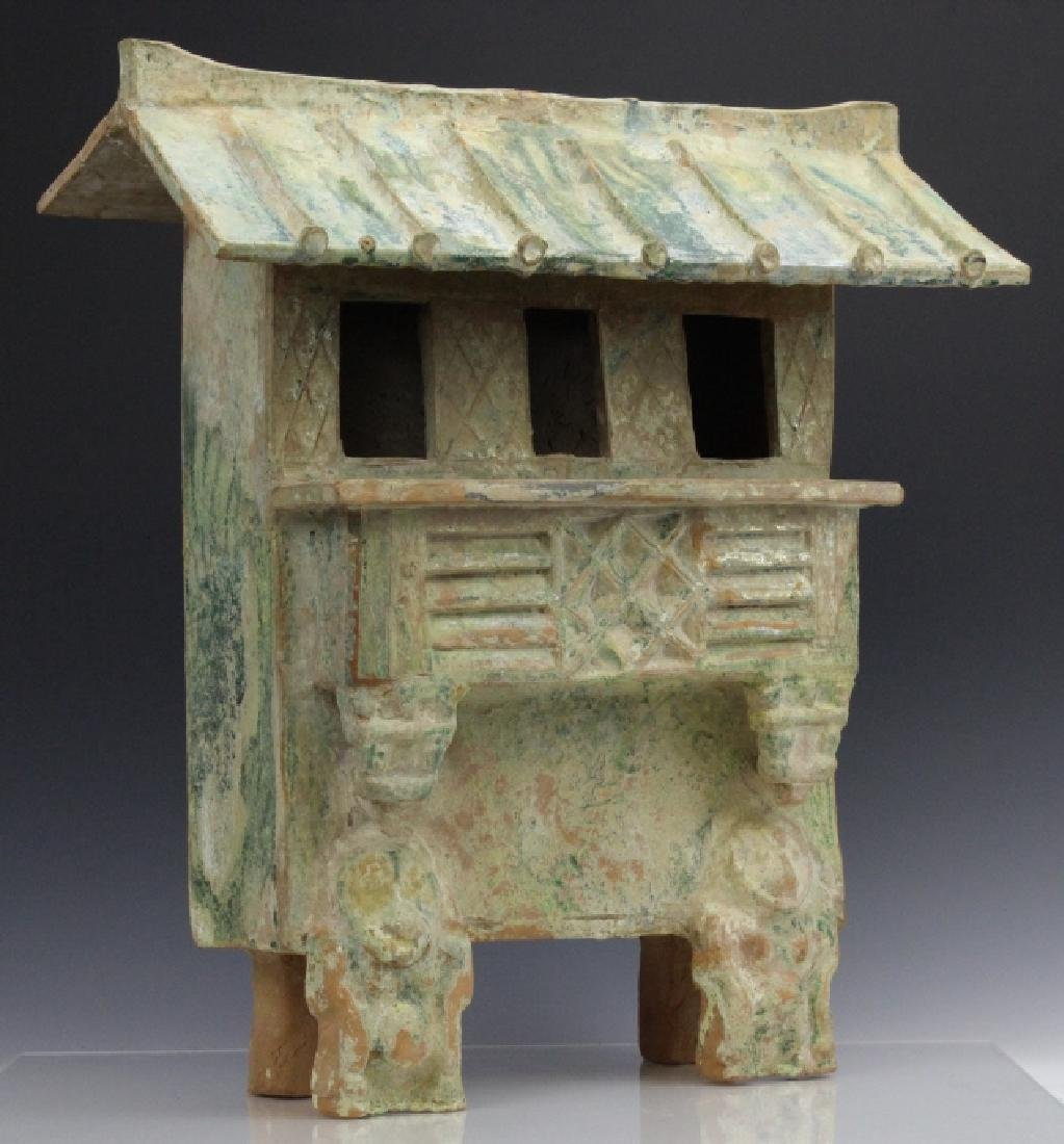 Large Han Dynasty Terra Cotta Pottery House Figure - 9
