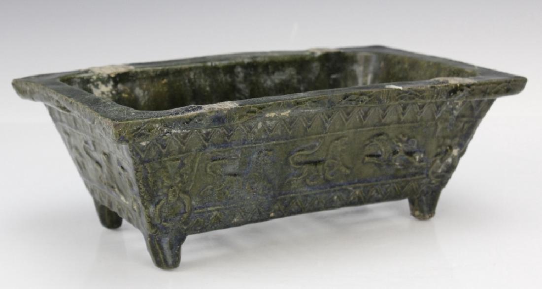 Ming Dynasty Animal Motif Glazed Pottery Planter - 4