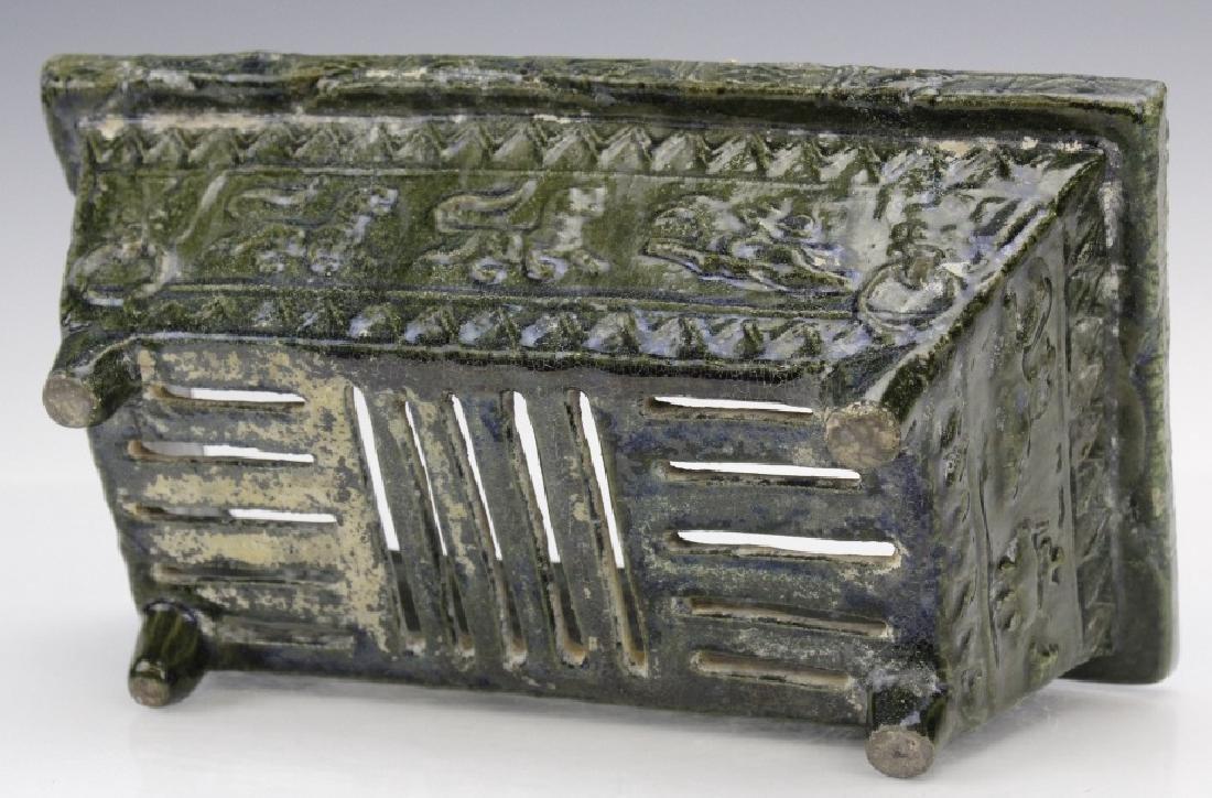 Ming Dynasty Animal Motif Glazed Pottery Planter - 6