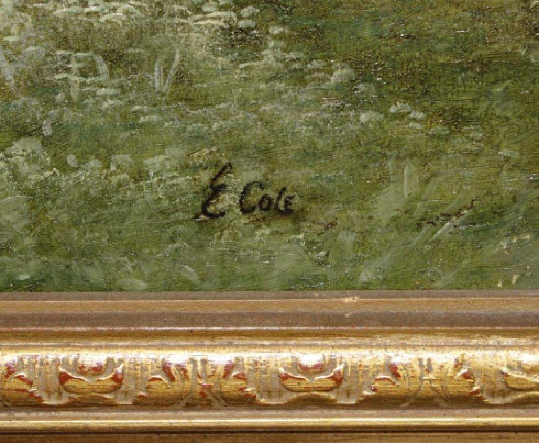 Antique GEORGE COLE English Landscape Oil Painting - 2