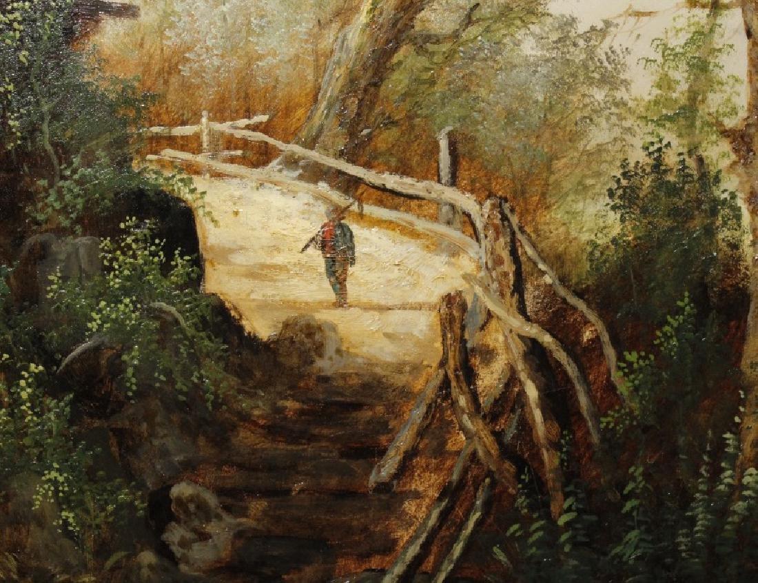 Antique GEORGE COLE English Landscape Oil Painting - 4