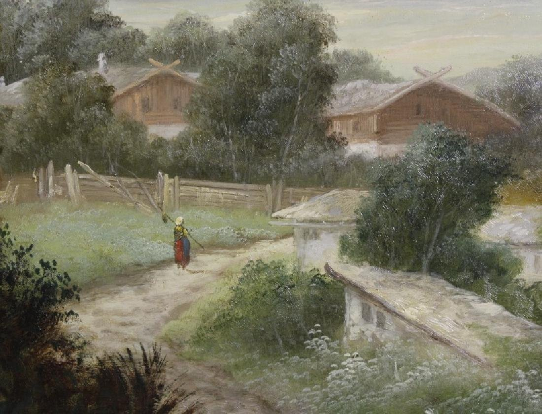 Antique GEORGE COLE English Landscape Oil Painting - 5