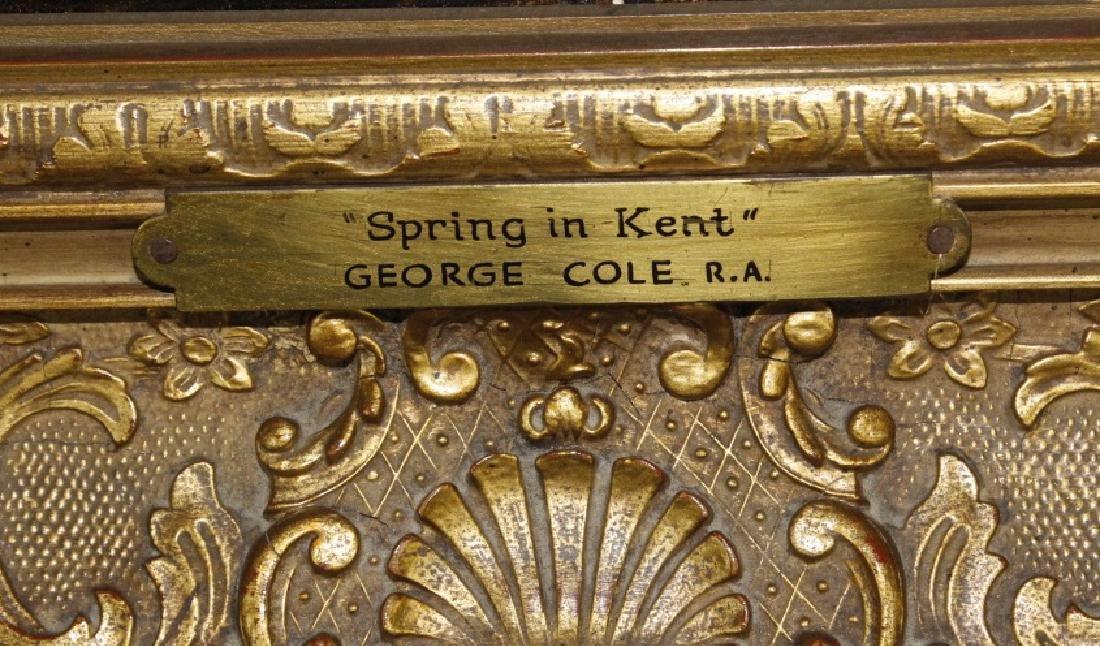 Antique GEORGE COLE English Landscape Oil Painting - 8
