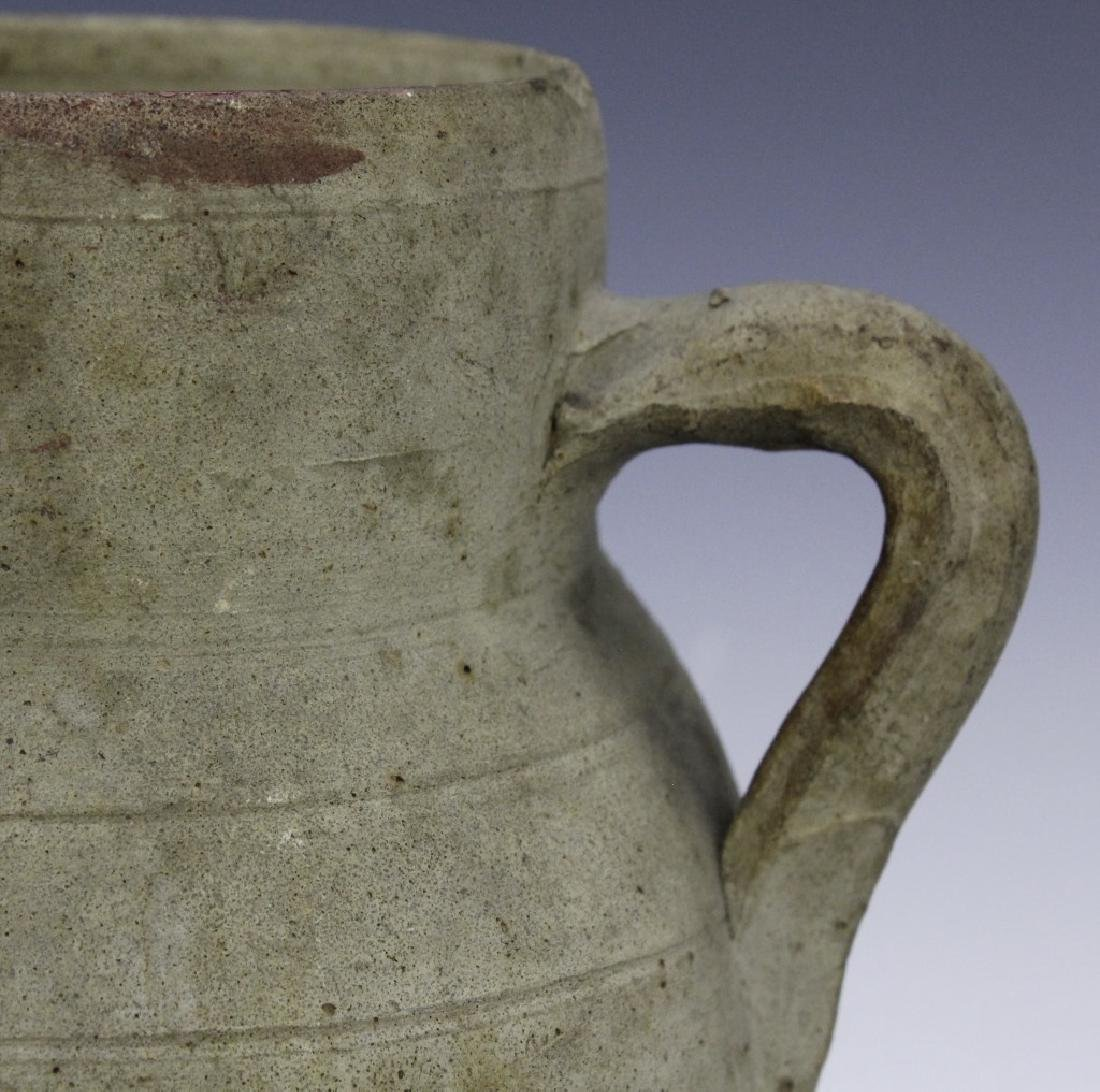Eastern Mediterranean Two Handled Pottery Jug - 2