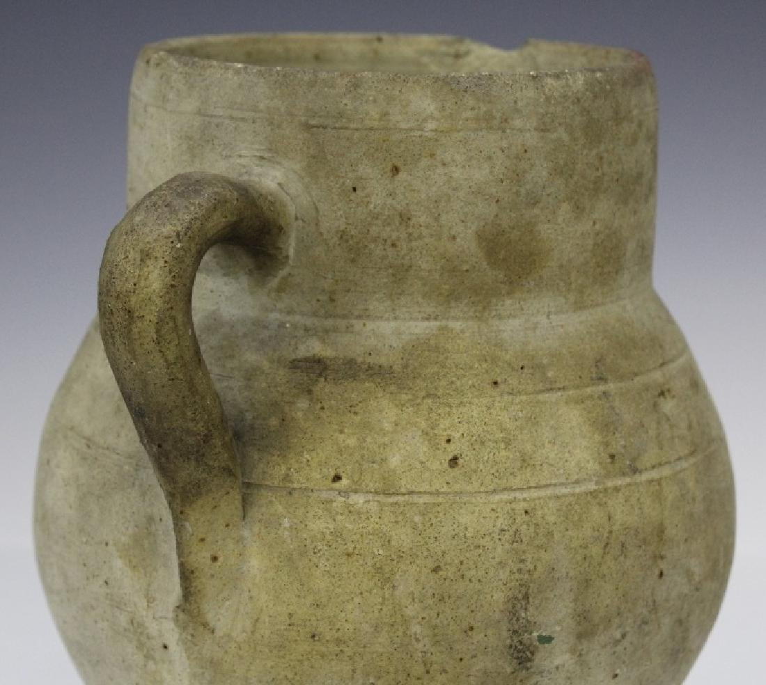 Eastern Mediterranean Two Handled Pottery Jug - 3