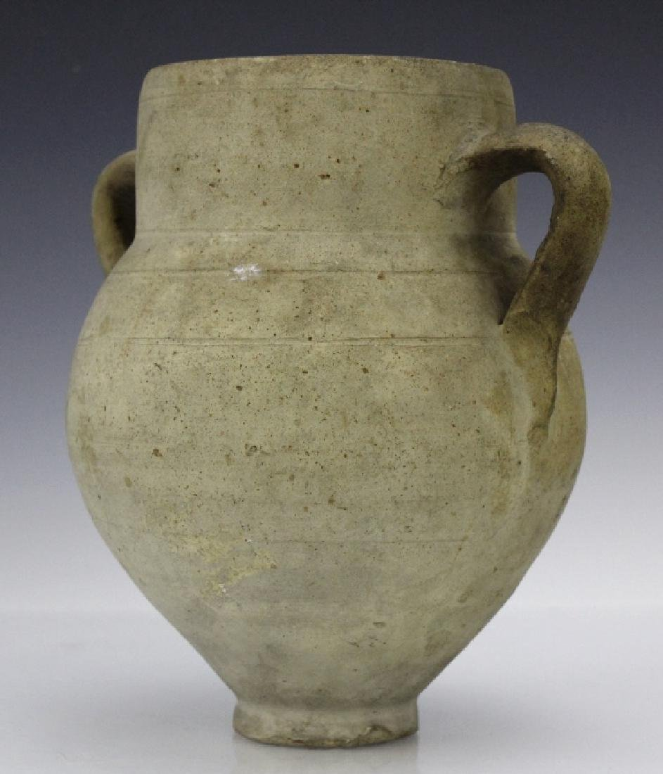 Eastern Mediterranean Two Handled Pottery Jug - 4