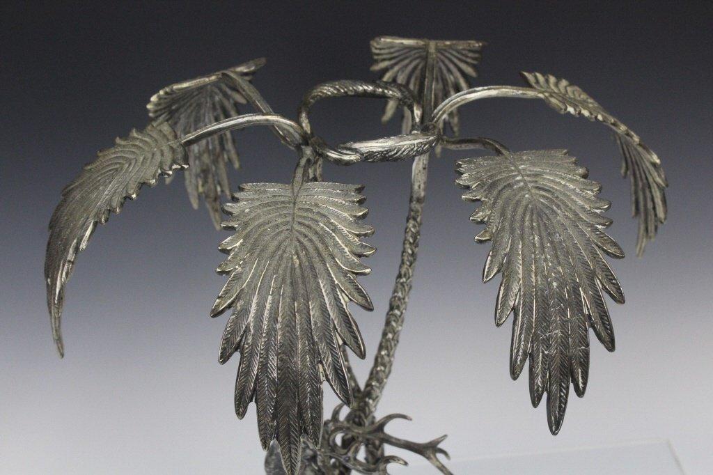 Valenti Silvered Bronze Deer Figural Centerpiece - 5