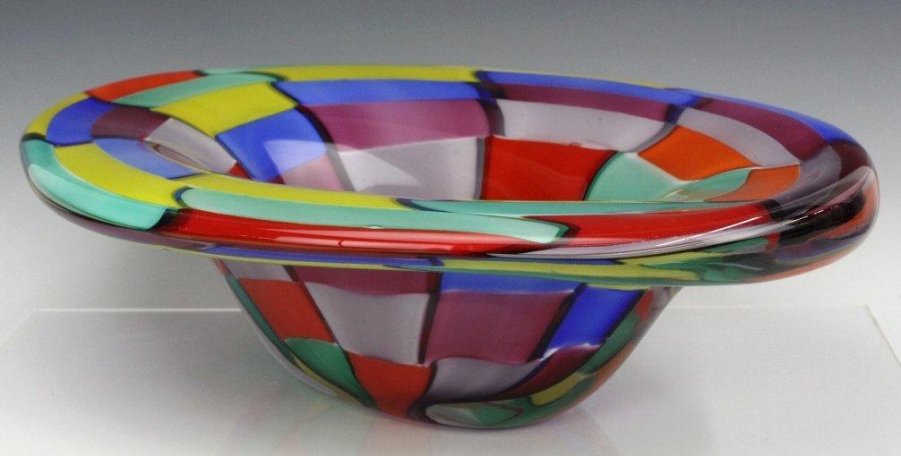 Signed Eros Raffael Murano Italian Art Glass Bowl