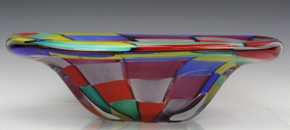 Signed Eros Raffael Murano Italian Art Glass Bowl - 2