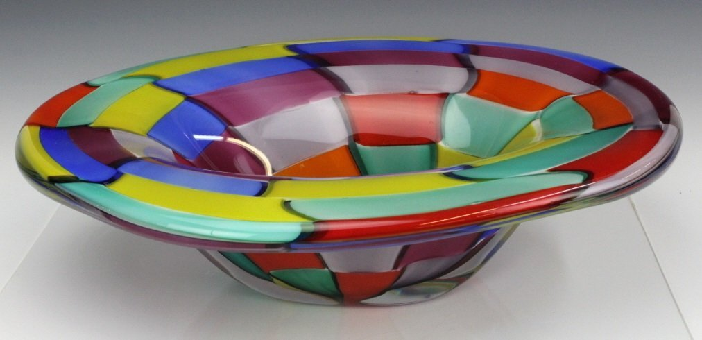 Signed Eros Raffael Murano Italian Art Glass Bowl - 3