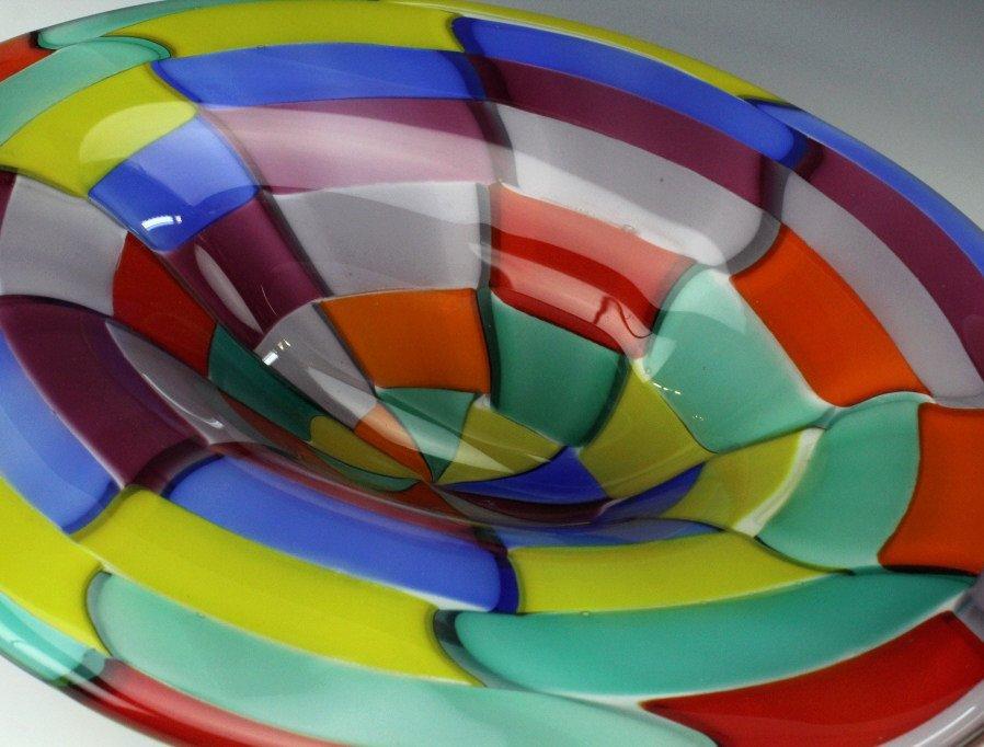 Signed Eros Raffael Murano Italian Art Glass Bowl - 4