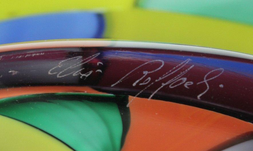Signed Eros Raffael Murano Italian Art Glass Bowl - 5
