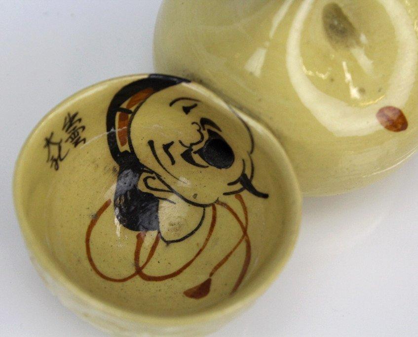 Vintage Japanese Art Pottery Suiteki Water Dropper - 5