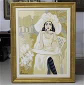 Isaac Maimon Mirabelle Female Portrait Painting