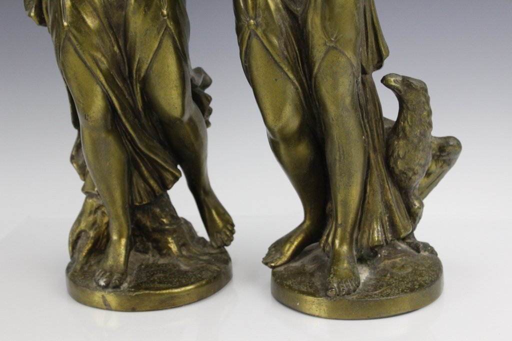 Pair Neoclassical Style Women Figural Sculptures - 4