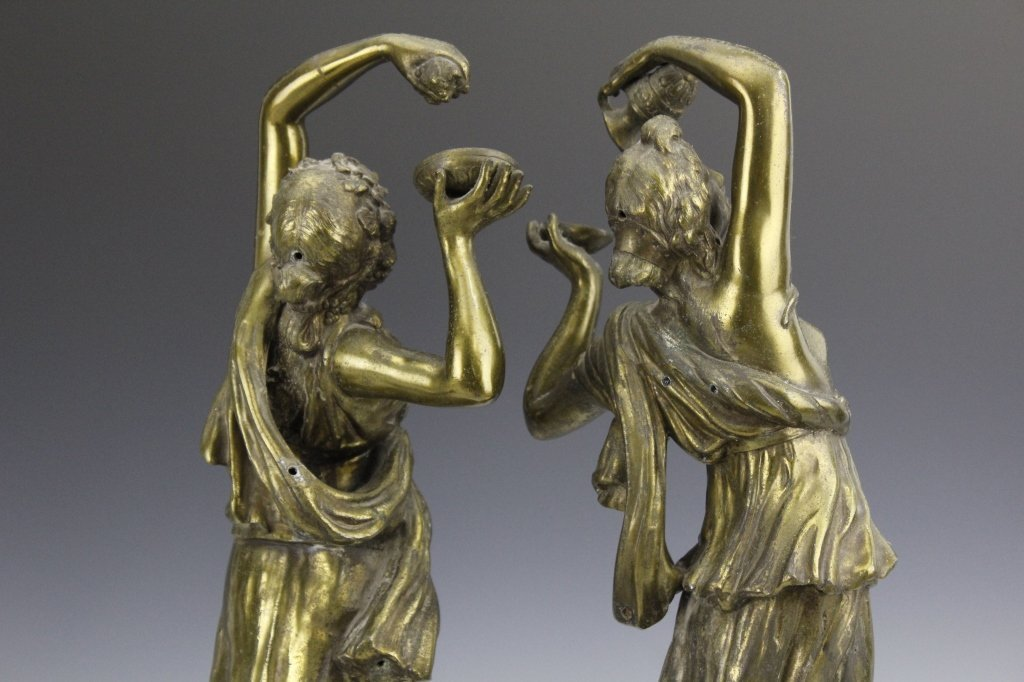 Pair Neoclassical Style Women Figural Sculptures - 6
