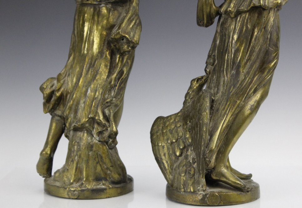 Pair Neoclassical Style Women Figural Sculptures - 7