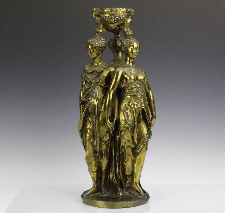Barbedienne Bronze Figural Three Graces Sculpture