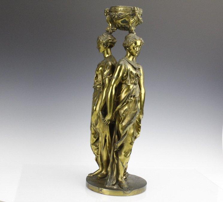 Barbedienne Bronze Figural Three Graces Sculpture - 7