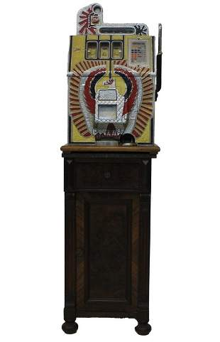 Mills Novelty Co War Eagle Quarter Slot Machine c. 1931
