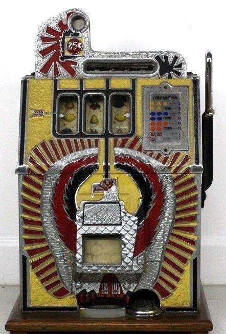Mills Novelty Co War Eagle Quarter Slot Machine c. 1931 - 3