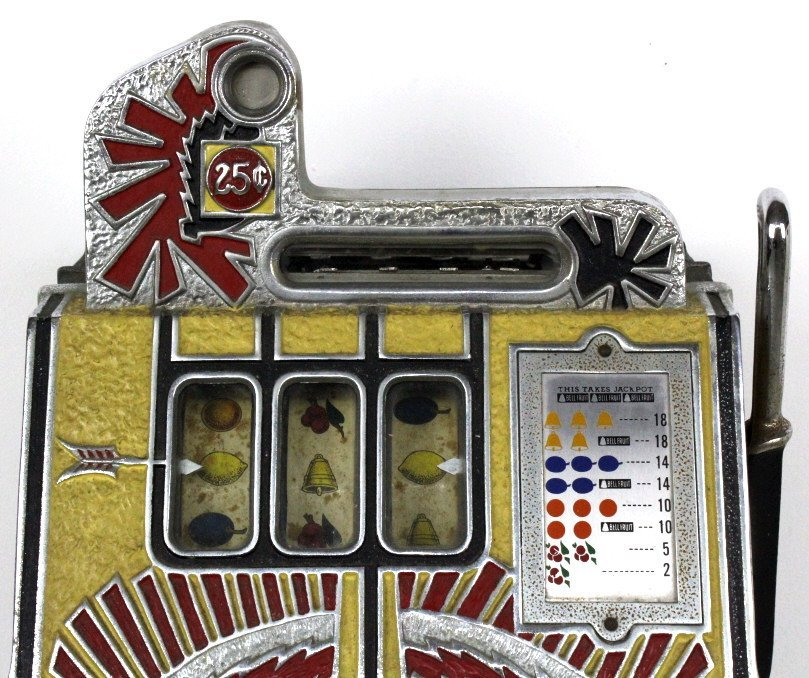Mills Novelty Co War Eagle Quarter Slot Machine c. 1931 - 4