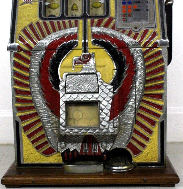 Mills Novelty Co War Eagle Quarter Slot Machine c. 1931 - 5