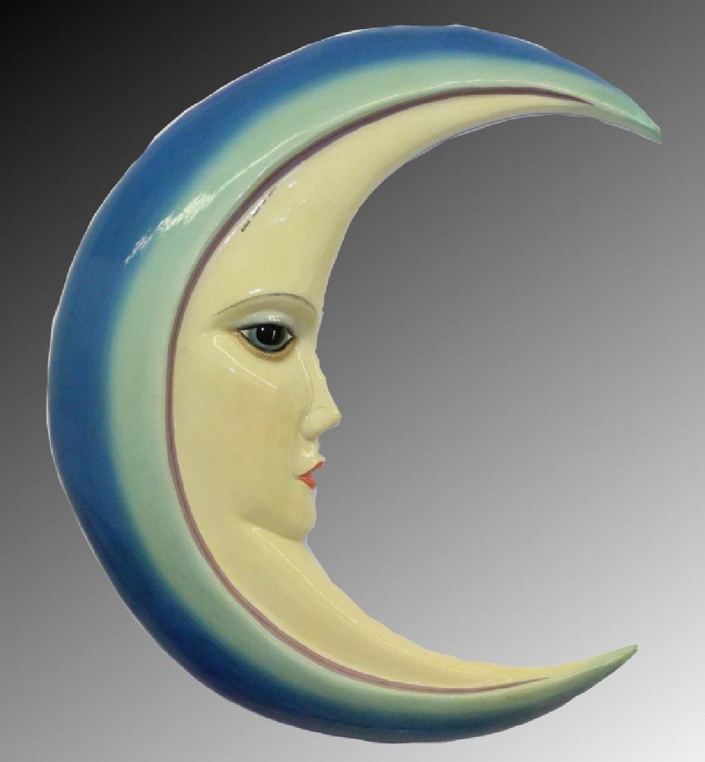 "SERMEL Mexican Folk Art Papier Mache 34"" Crescent Moon"