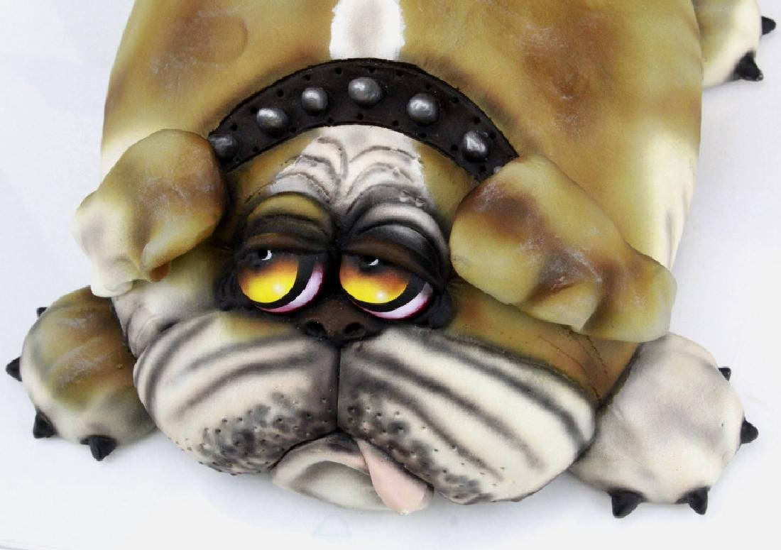 TODD WARNER Baby's First Step Bulldog Dog Art Sculpture - 2