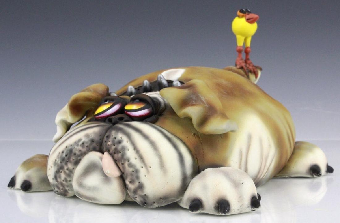 TODD WARNER Baby's First Step Bulldog Dog Art Sculpture - 4
