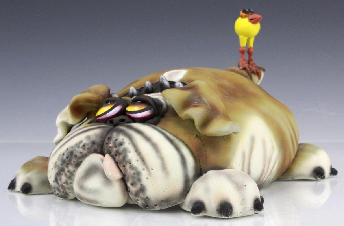 TODD WARNER Baby's First Step Bulldog Dog Art Sculpture - 4