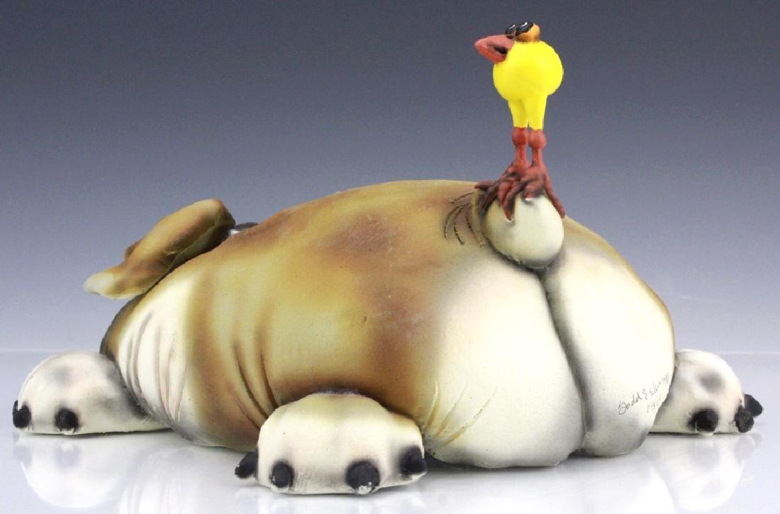 TODD WARNER Baby's First Step Bulldog Dog Art Sculpture - 6
