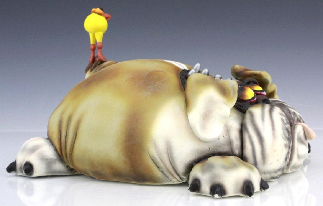 TODD WARNER Baby's First Step Bulldog Dog Art Sculpture - 8