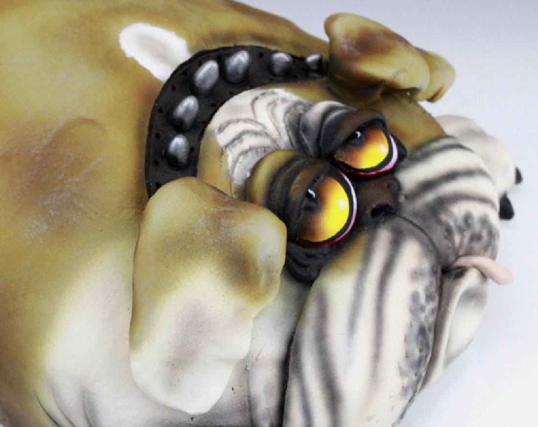 TODD WARNER Baby's First Step Bulldog Dog Art Sculpture - 9