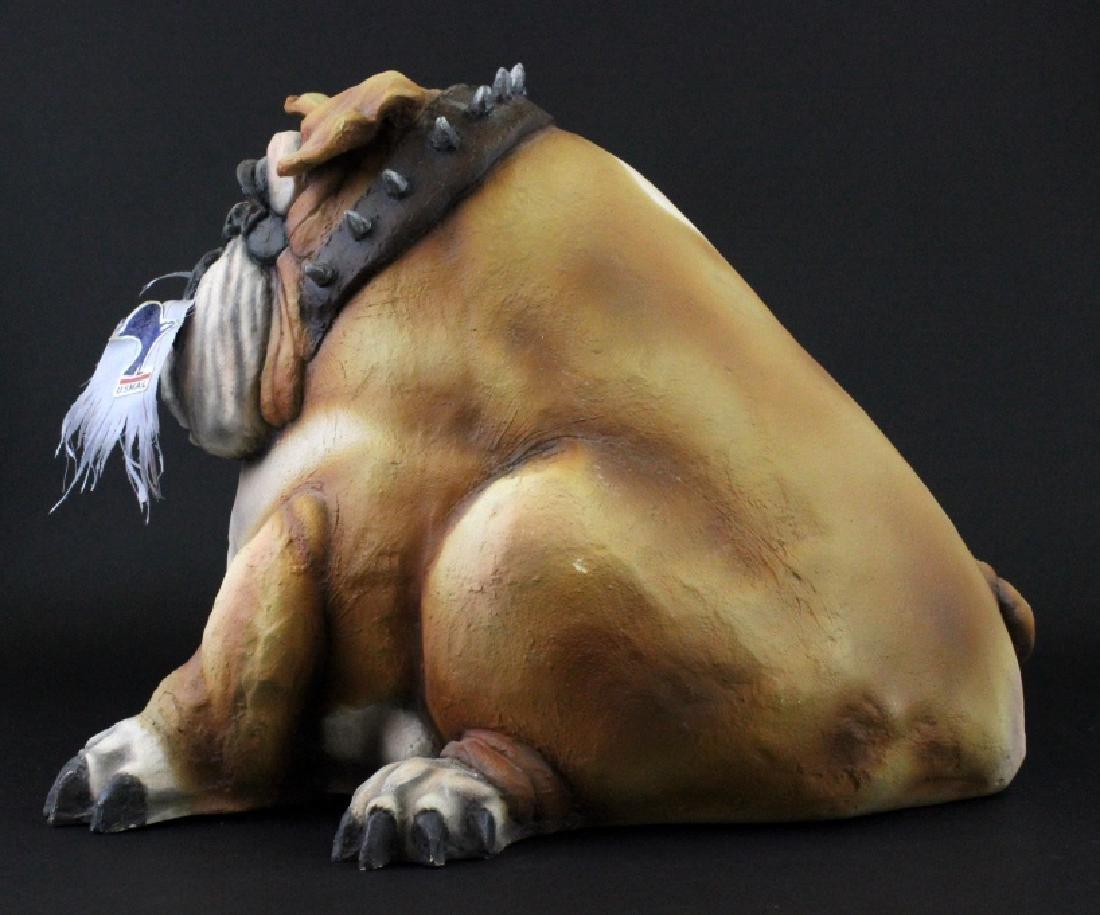 "Signed TODD WARNER Bulldog Dog Postman 18"" LE Sculpture - 5"