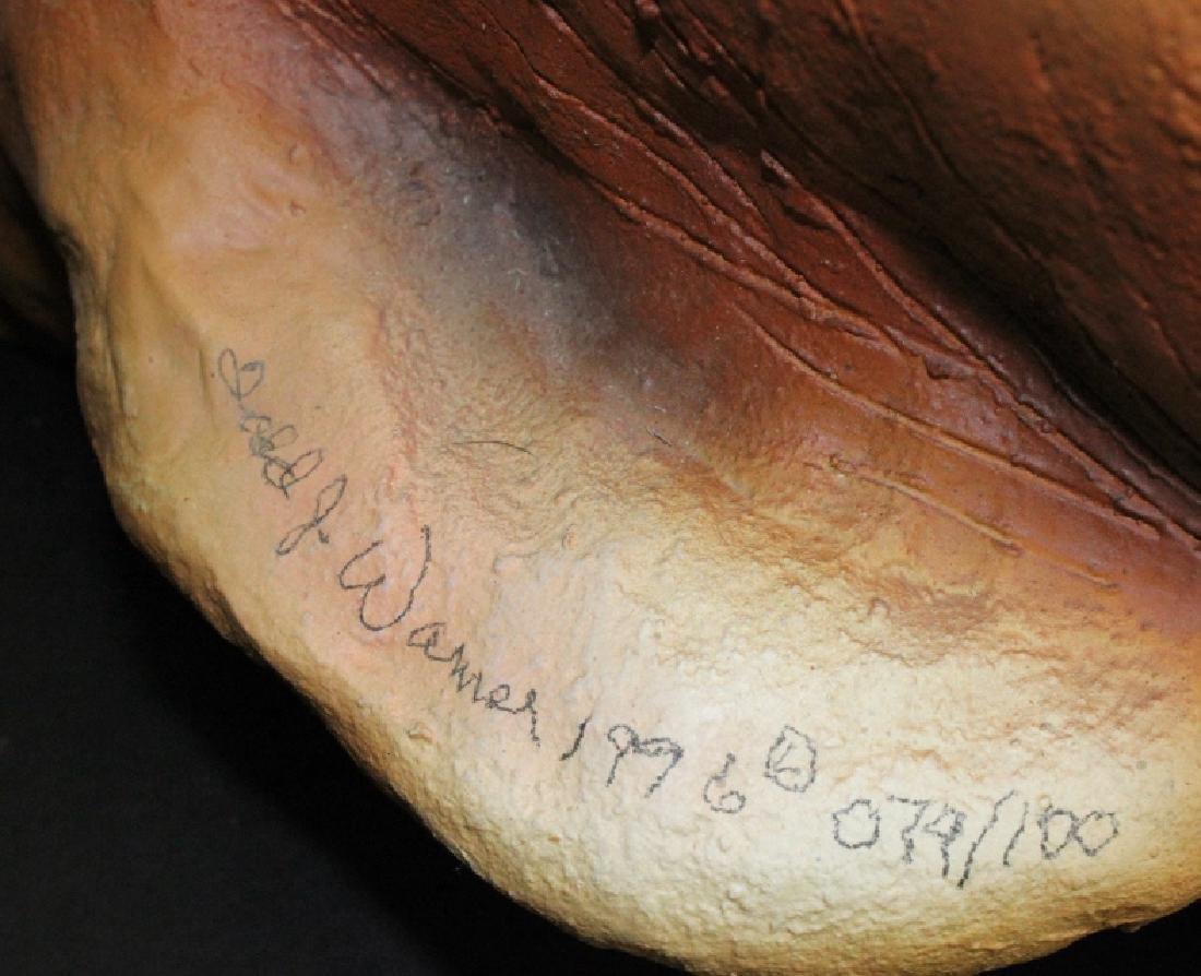 "Signed TODD WARNER Bulldog Dog Postman 18"" LE Sculpture - 8"